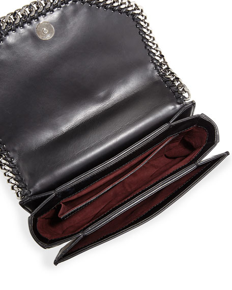 Falabella Box Bird Shoulder Bag, Black