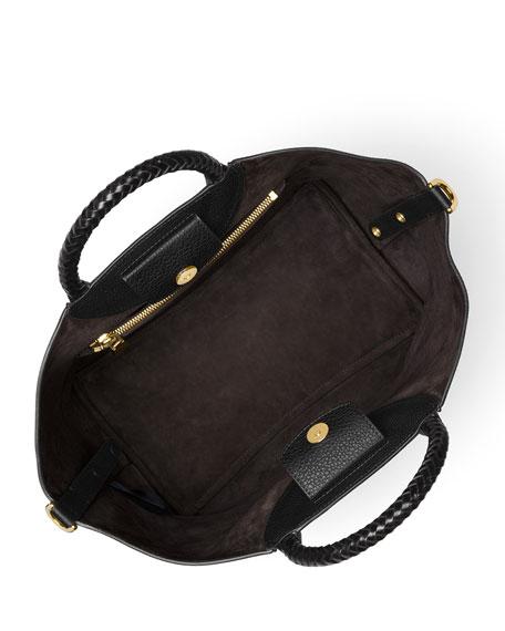 Skorpios Leather Market Bag, Black