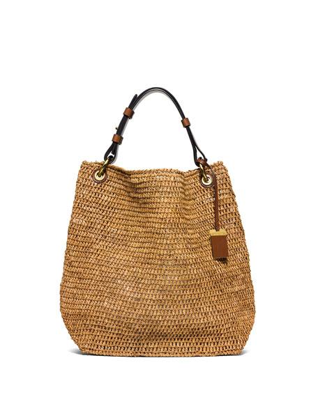 Santorini Large Raffia Shoulder Bag