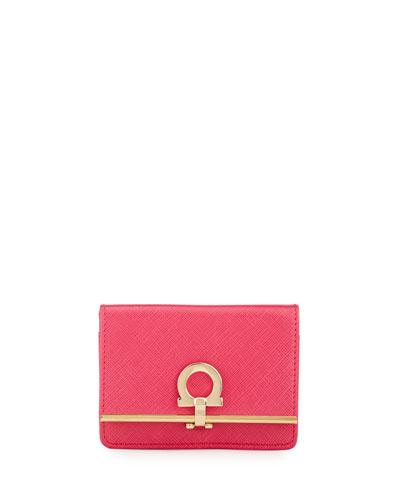 Icona Card Case and Key Ring, Framboise