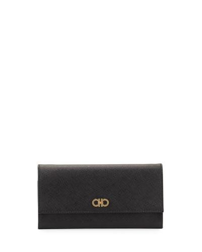 Gancini Icona Mini Wallet-On-Chain, Nero