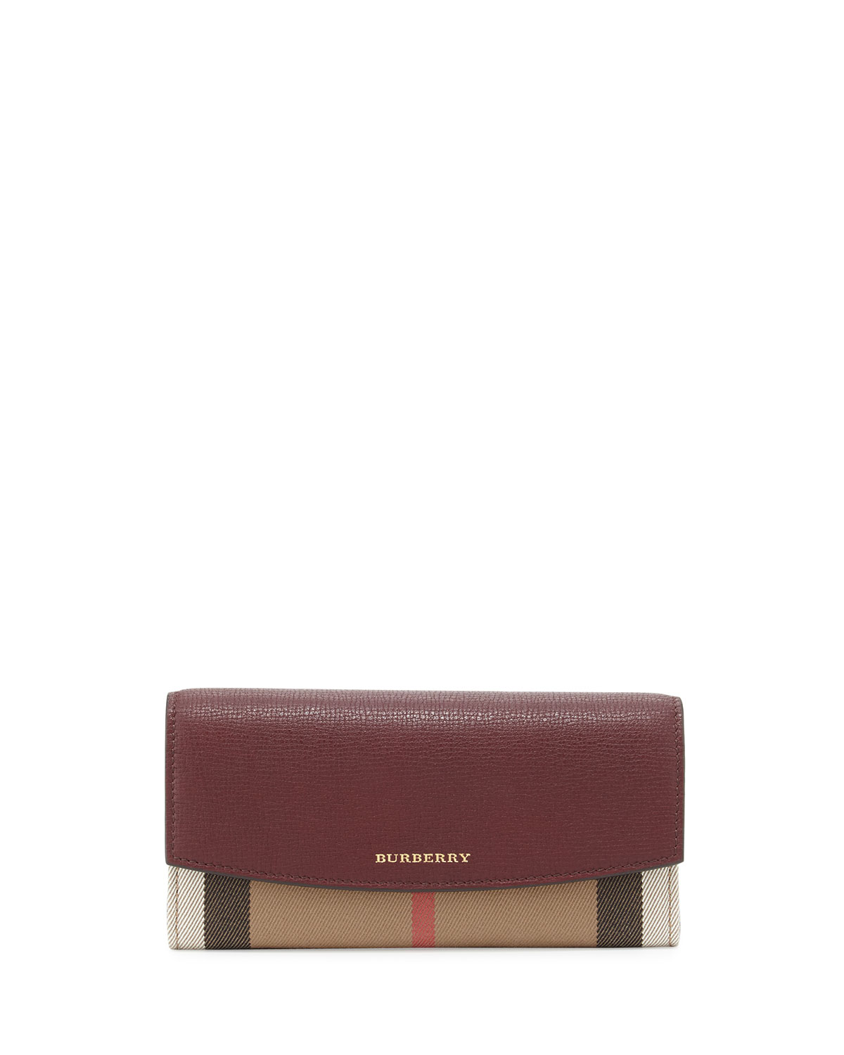 Burberry Porter House Check Continental Wallet, Mahogany Red ... d474f2e36f