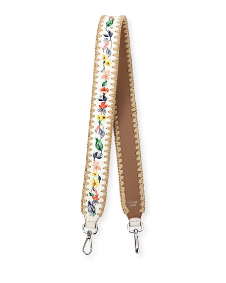 Fendi Strap You Floral Snakeskin Shoulder Strap for