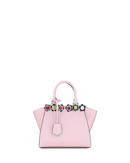 3Jours Mini Floral-Stud Tote Bag, Soft Pink/Multi