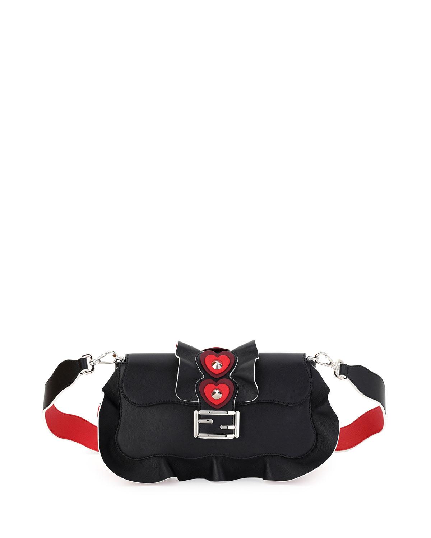 ae657e27c674 Fendi Baguette Heart-Stud Wave Shoulder Bag