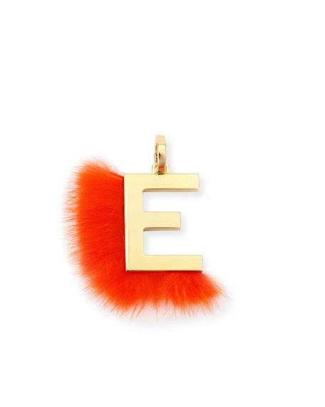 ABClick Letter E Mink Charm for Handbag, Multi