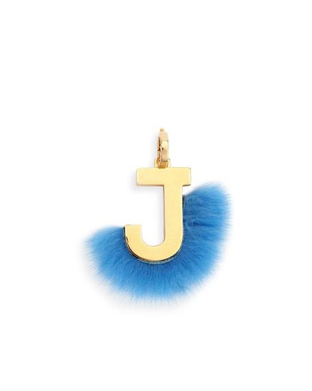 Fendi abclick letter j mink charm for handbag multi neiman marcus abclick letter j mink charm for handbag multi aloadofball Images