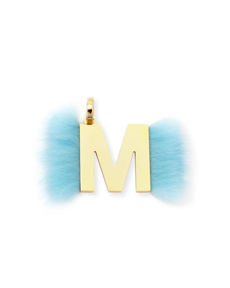 ABClick Letter M Mink Charm for Handbag, Multi