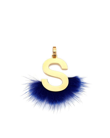 ABClick Letter S Mink Charm for Handbag, Multi