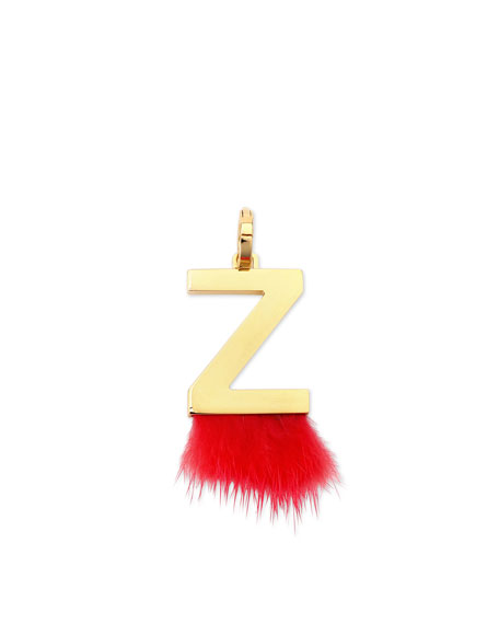 ABClick Letter Z Mink Charm for Handbag, Multi