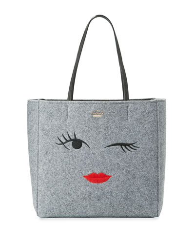 post drive wink hallie tote bag, gray