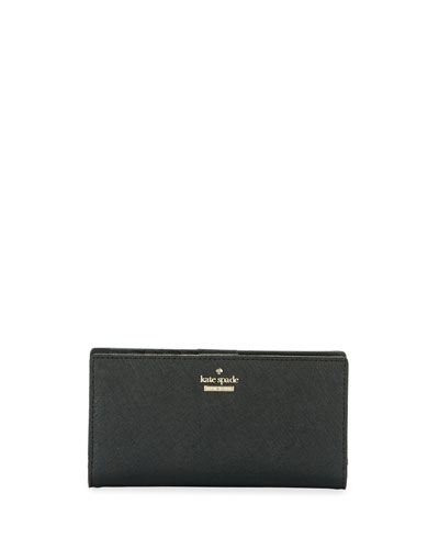 cameron street stacy leather wallet, black