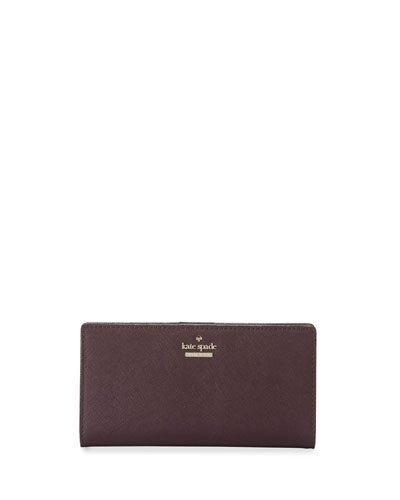 cameron street stacy leather wallet, mahogany