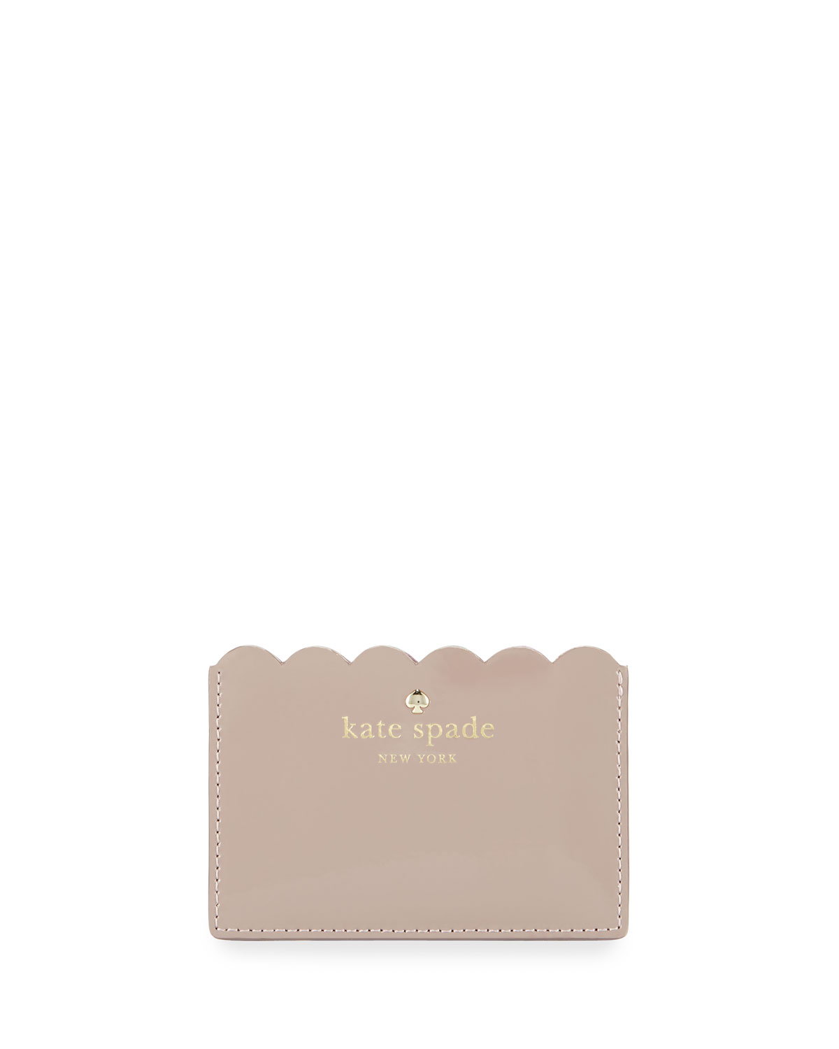 official photos 65662 cc645 lily avenue patent card holder, porcini/rose taupe