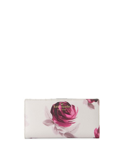 hawthorne lane roses stacy wallet, plum dawn/multi