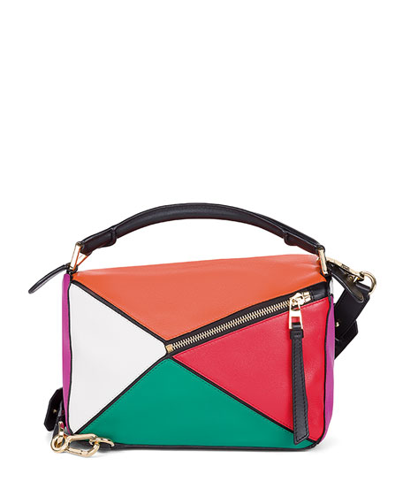 Puzzle Small Colorblock Satchel Bag