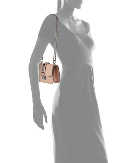 Lock Micro Mini Shoulder Bag, Beige