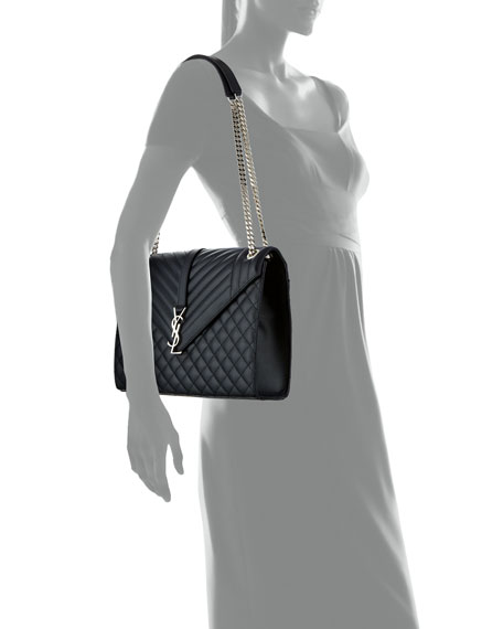 Monogram Large Chain Matelassé Shoulder Bag