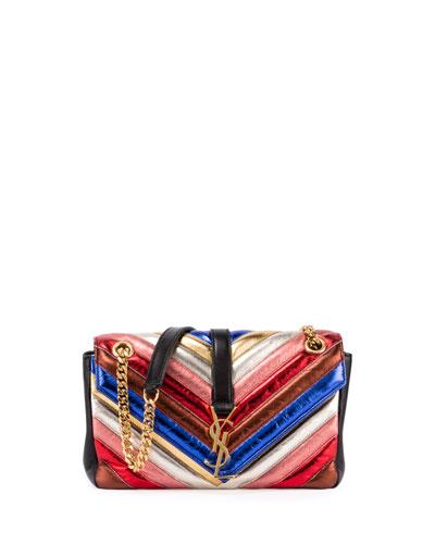 Monogram Medium Matelassé Rainbow Chain Shoulder Bag, Multi