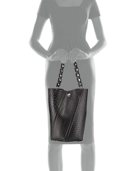Hex Medium Bucket Bag, Black