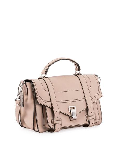 Ps1+ Medium Leather Satchel Bag, Sand by Proenza Schouler