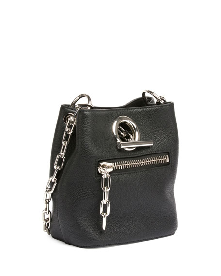 Alexander Wang Riot Leather Bucket Bag, Black