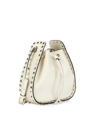 VALENTINO Leathers ROCKSTUD SMALL DRAWSTRING CROSSBODY BAG