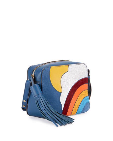 Rainbow & Cloud Crossbody Bag, Blue/Multi