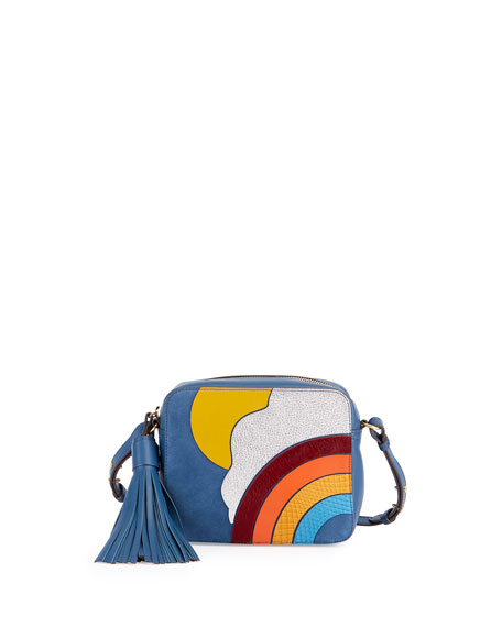 Anya Hindmarch Rainbow & Cloud Crossbody Bag, Blue/Multi