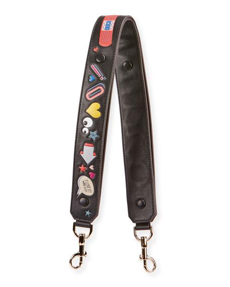 Anya Hindmarch Allover Wink Shoulder Strap for Handbag,