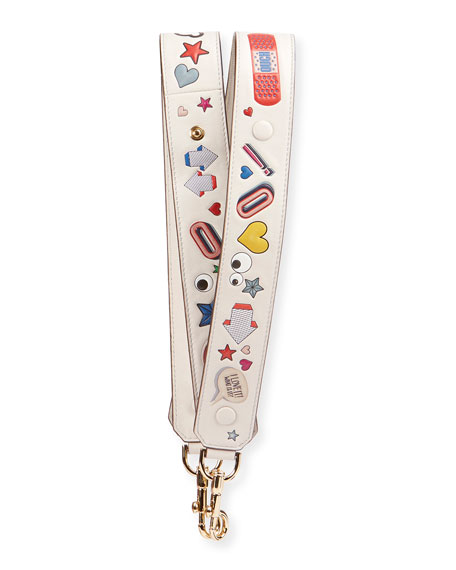 Anya Hindmarch Allover Wink Shoulder Strap for Handbag,