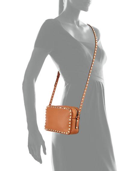 Rockstud Small Zip-Top Camera Bag, Tan