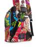 Palm Parrot Studded Biker Backpack, Black/Multi