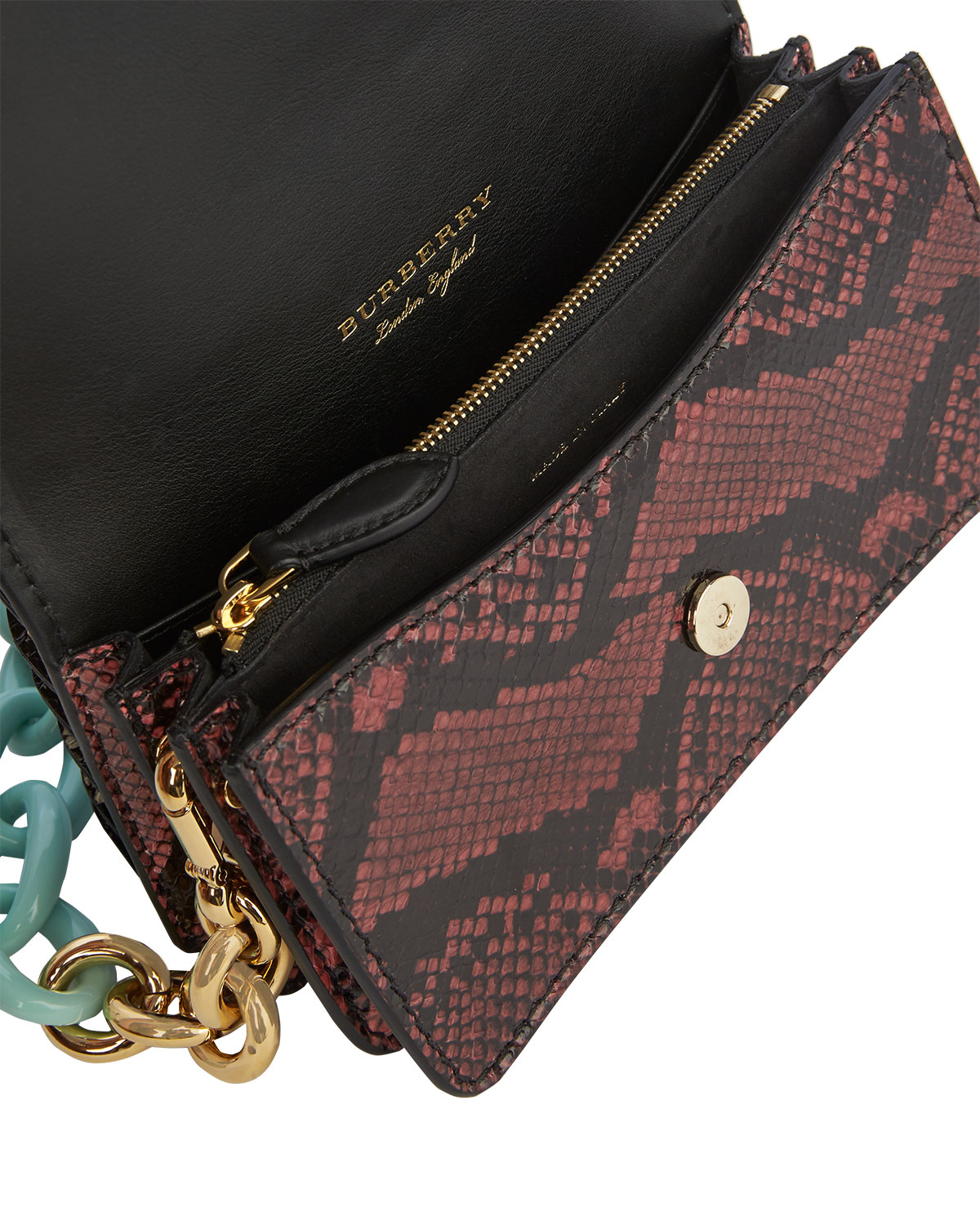 5c8df82c56c Burberry Bridle Baby Ruffled Snakeskin Shoulder Bag, Teal | Neiman Marcus