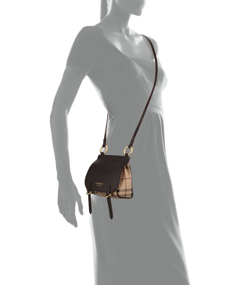 Bridle Baby Haymarket Check Shoulder Bag, Dark Clove Brown
