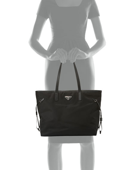 bdb18cf746f1 Prada Vela Side Cinch Shopping Tote Bag Nero | Stanford Center for ...