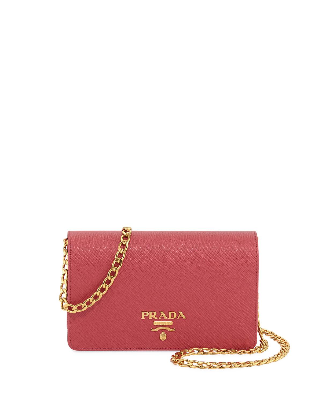 bab89bf1246c Prada Saffiano Lux Crossbody Bag, Pink (Begonia) | Neiman Marcus