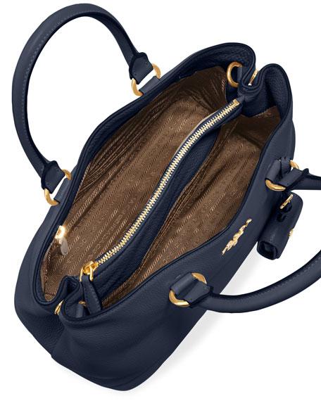 Vitello Daino Tote Bag, Dark Blue