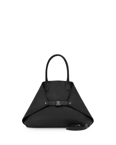Ai Small Top-Handle Leather Shoulder Bag, Black