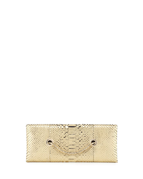 TOM FORD Python Chain Clutch Bag