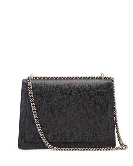 Dionysus Medium Leather Shoulder Bag, Black