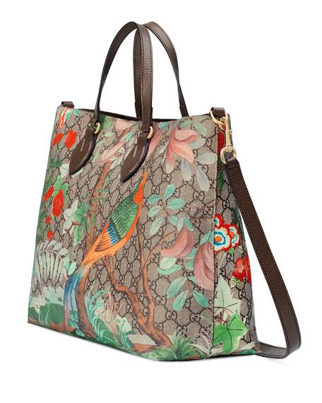 Tian GG Supreme Top-Handle Tote Bag, Brown