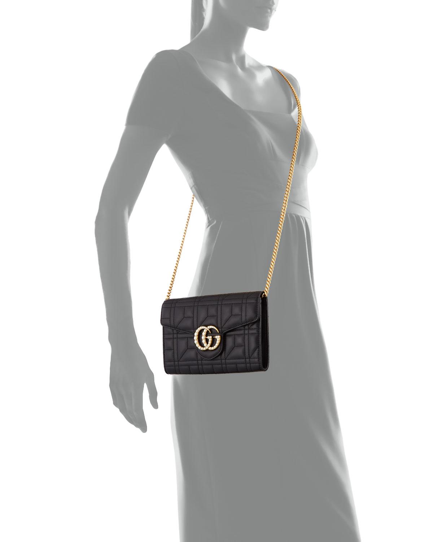 0ac32e042b15 Gucci GG Marmont Pearly Matelassé Mini Bag | Neiman Marcus