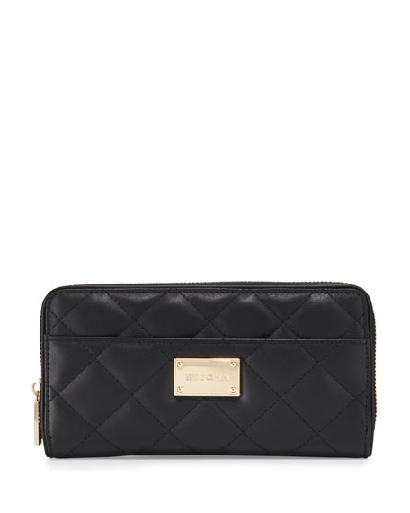 St. John Collection Quilted Leather Continental Wallet,