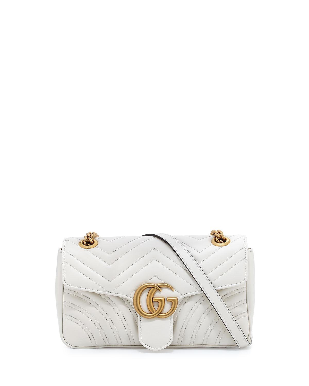 3acb29c098e Gucci GG Marmont Small Matelassé Shoulder Bag