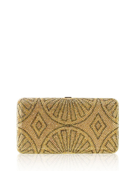 La Revue Airstream Crystal Evening Clutch Bag, Champagne/Multi