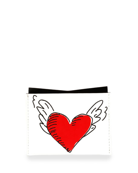 Love Tattoo Card Holder, White