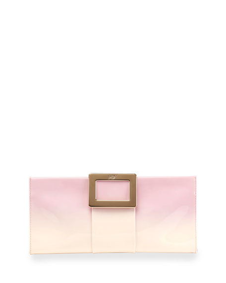 Belle Vivier Patent Leather Clutch Bag