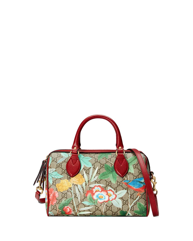 5f35aa854c6 Gucci Tian GG Supreme Small Top-Handle Bag