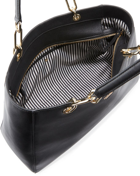 robson lane anabel leather shoulder bag, black